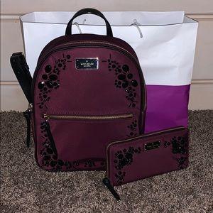 Wilson road embellished backpack & wallet